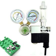 CO2 Regulator Magnetic Solenoid Valve Two Dual Gauge Bubble Counter Aquarium