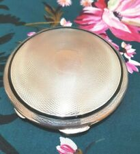 Silver Guilloche blue  Enamel Compact  with mirror  1931