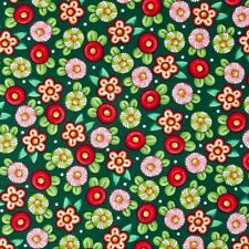 Trimming the Tree Mary Engelbreit Candy Flowers Green Cotton Fabric Fat Quarter