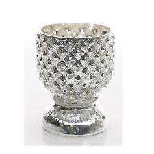 "Set of 6 Mercury glass votives 2.5""x3.5"""