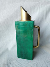 Vintage ALDO TURA Italian Mid Century Design Green Lacquered Carafe Thermos