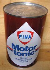 FINA 1 Liter alte Öldose voll Motor-tonic Motortronic 15W40 neu ungeöffnet