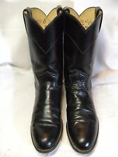 Justin Roper Womens Cowboy Boots  Size 7 B   Blac leather L3703  # 157 JS