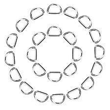 eBoot 50 Pack Metal D Ring 1 Inch