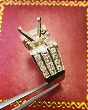 2.00 ct 14k Solid Yellow Gold Setting Semi Mount Diamond Ring Princess cut