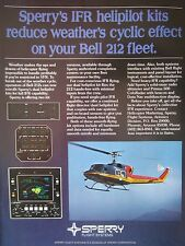 2/1982 PUB SPERRY FLIGHT SYSTEMS IFR HELIPILOT BELL 212 SAR RESCUE ORIGINAL AD