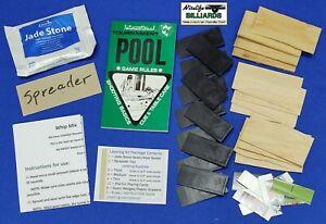 "POOL TABLE ""PRO"" SLATE LEVELING KIT Shims Wedges Seam Sealer Tool & Instructions"