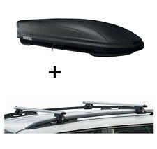 Dachbox MAA400L matt + Relingträger CRV135 für Peugeot Bipper ab 07