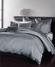 Donna Karan Home Current Full / Queen Duvet Cover Silver $415
