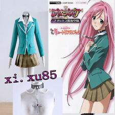 Anime Rosario and Vampire Akashiya Moka Uniform Cosplay Costume with Neacklae