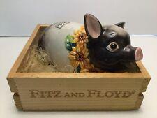 Fitz and Floyd Pig Sunflower Pompadour in Original Crate 1992