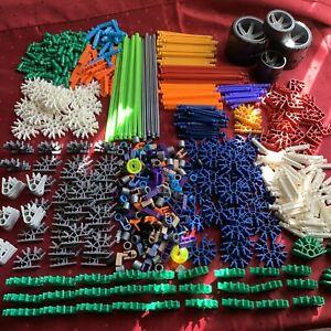 LOT KNEX METALLIC Bulk K'nex Variety Of Parts/Pieces 7 Tires