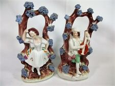 Antique Porcelain Pair Dancing from England