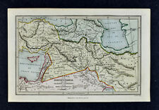 c 1799 Map - Canaan Mesopotamia Babylon Assyria Aram Medes Shem Ham Hebrew