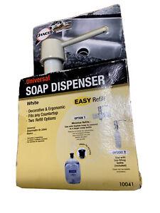 DANCO Universal Kitchen Soap Dispenser in white  NEW 10041