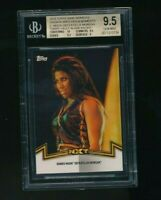 2018 Topps WWE Womens Division Ember Moon Blank Back 1/1 BGS 9.5