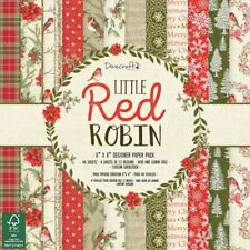 Dovecraft Premium Little Red Robin Christmas Collection - 6x6 Paper Pad