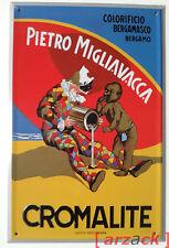 Targa Pubblicitaria in Latta COLORIFICIO BERGAMASCO Pietro Migliavacca CROMALITE