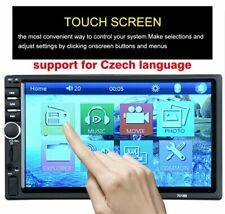 7'' Bluetooth Car Stereo Radio 2 DIN HD MP5 FM Player Touch Screen + Rear Camera