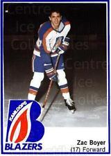 1988-89 Kamloops Blazers #13 Zac Boyer