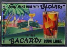 "Bacardi Rum Cuba Libre 2"" X 3"" Fridge / Locker Magnet."
