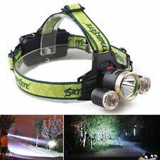 36000LM LED Headlight Flashlight Torch 3x XM-L T6 Headlamp Head Lamp Head Torch
