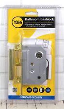 "Yale Locks Bathroom Sashlock Replacement Internal Lock 64mm (2.5"") Brass Finish"