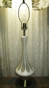 Vintage Table Lamp 1960  Danish Mid Century Modern Atomic Retro Dream of Jeannie