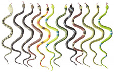 12 Rubber Rainforest Snakes 14-Inch Rain Forest Snake Figures Party Favors Nature T