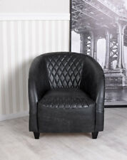 Leather Armchair Retro Vintage Lounge Chair Art Deco Relaxing