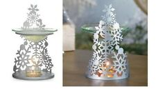 PARTYLITE  SNOWFLAKE FRAGRANCE SIVER CHRISTMAS TREE WARMER NEW IN BOX