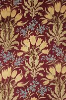 Art Nouveau floral design c1900 French curtain fabric heavy weight drape LOVELY