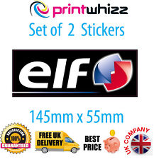 2 x ELF Petroleum Motorsport Stickers Decals Quality Printed Vinyl Label