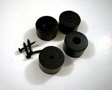 """4 Genuine Penn Elcom F1686/25 Amp Rubber Feet / Speaker Cabinet Foot 1""""x1 9/16"""""""