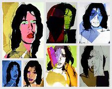 Andy Warhol Style Mick Jagger x 7 Canvas 16 x 20