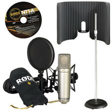 RODE NT1-A Microphone with Primacoustic VoxGuard and Weighted Mic Stand
