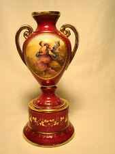 """Royal Vienna Porcelain Hand Painted Portrait Urn Blue Shield 5 3/8"""" h c.1814-64"""