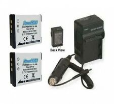 Two Battery Batteries + Charger for Fuji Film X10 F600EXR F600 EXR F605EXR F605