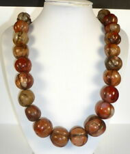 More details for rare beautiful quality carnelian bead necklace 150 + years old from tibet