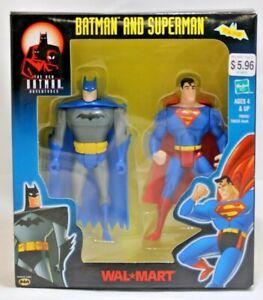 The New Batman Adventures Batman & Superman Action Figures Hasbro 2001 NIB