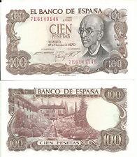 España 100 pesetas Falla 1970 Plancha SC