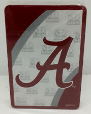 University of Alabama Deck of Playing Cards Clear Case Logo on Face Roll Tide