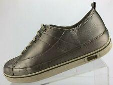 Fitflop Supertone Fashion Sneakers Silver Metallic LaceUp Walking Shoes Womens 9