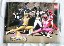 POSTER POWER RANGERS (BANDAI ADVERTISEMENT) 70x50CMs!. 2-FACES UNPOUNCHED NEW