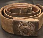 Imperial German, WW1 Prussian Late War Field Modified Enlisted Man's Belt/Buckle