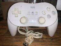 Genuine Nintendo Wii Pro Controller White OEM Tested Free Shipping