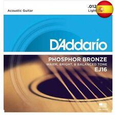 D'Addario EJ16 - Juego de Cuerdas para Guitarra Acústica de Fósforo/Bronce, 0