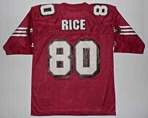 Jerry Rice San Francisco 49ers Starter NFL Vtg Football Jersey Shirt Sz 48