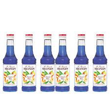 Monin Sirup Blue Curaçao Blau, 0,25L, 6er Pack