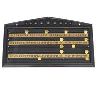1 Pc Snooker Scoreboard Plastic Black Standard Scoreboard for Game Supplies